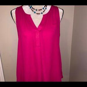 Lush NWOT size L. Hot pink blouse tank